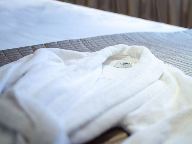 Comfy robe folded at the Beaufort Hotel